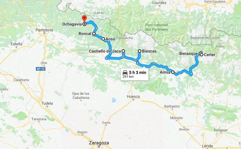 Ruta Autocaravana Pirineo Aragonés y Noreste Navarra