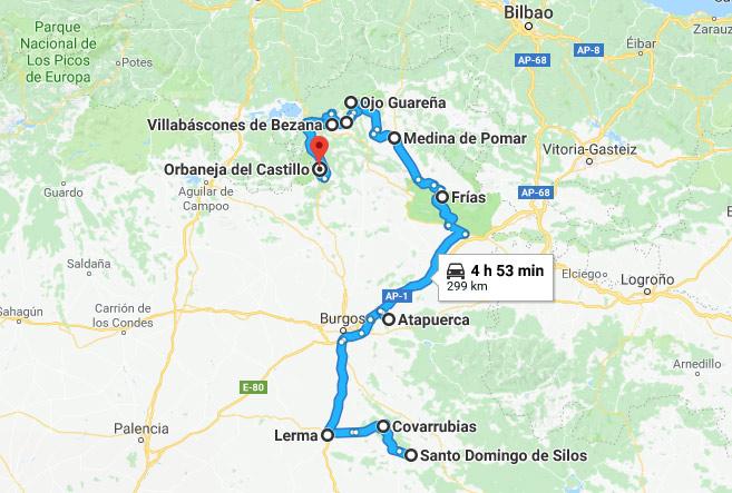 Ruta Autocaravana Provincia de Burgos